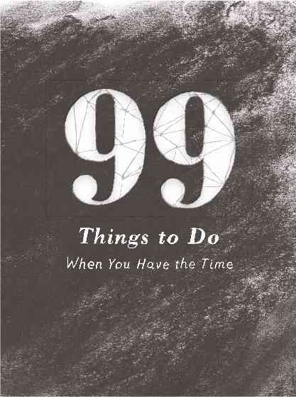 99 Things to Do By Jameson, A. D.